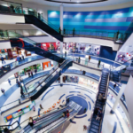 éclairage centres commerciaux
